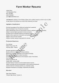 Farmer Resume Resume Templates