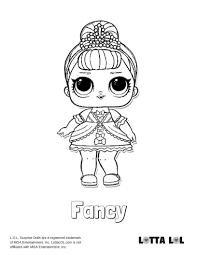 Fancy Coloring Page Lotta Lol Coloring Pages