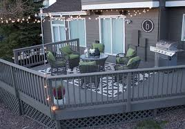 deck paint colorsDecorating Ideas Fresh Paint and String Lights