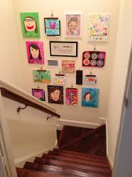 Childrens Artwork Display A Fun Way To Display Childrens Art Gather Together Pinterest