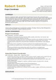 Project Coordinator Resume Samples Qwikresume