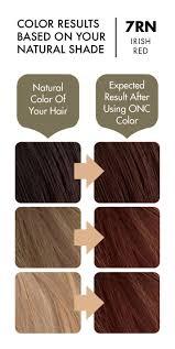 Red Hair To Brown Hair Colour Chart 7rn Irish Red Hair Dye With Organic Ingredients 120 Ml 4 Fl Oz