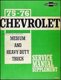 1975 1976 chevrolet 40 95 medium heavy truck service manual supp