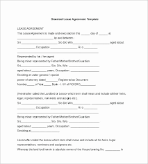 Free Rent Agreement Template Unique Example Of A Standard Commercial Lease Agreement Fresh 48 Sample