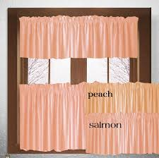 Peach Kitchen Curtains