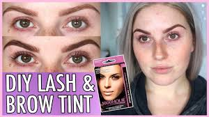 lash tint brow dye at home how to diy