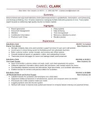 Example Of Summary For Resume