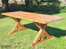 outdoor dining petaluma ca. this simple farm table features an intricate x-trestle base all built using old growth outdoor dining petaluma ca o