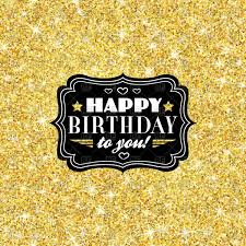free happy birthday template happy birthday template with golden confetti royalty free vector
