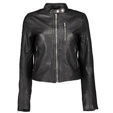 superdry malibu racer leather jacket black