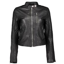 superdry malibu racer leather jacket black