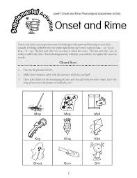 Onsetrime Hello Onset And Rime Worksheets For Kindergarten ...