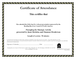 best photos of template of certificate of attendance attendance attendance certificate template
