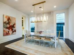 full size of brass linear chandelier white parsons dining table with worlds away silver leafed chairs
