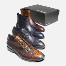Snake Design Shoes Designer Mens Brown Snake Skin Shoes