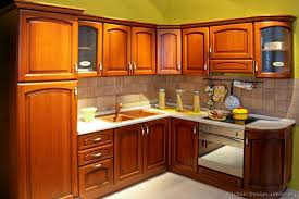 Kitchen Cabinets, Breathtaking Red Brown Round Traditional Wooden Wooden  Kitchen Cabinets Stained Medium Kitchen Cabinets