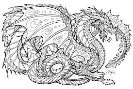Small Picture Dragon Coloring Pages For Adults diaetme