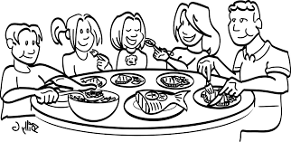 kitchen table clipart black and white. family black and white dinner clean clip art meal clipart baby kitchen table