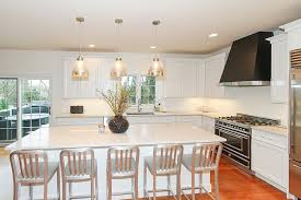 kitchen remodeling naperville il completed project with white cabinets and quartz counter tops