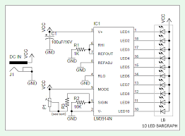 battery voltage level indicator lm3914 battery voltage level indicator