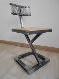 metal furniture. Furniture Metal Designs Chaise Design Brut Bois Style Industriel Artisanal Unique