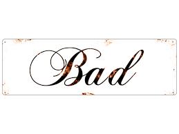 Metallschild Blechschild Türschild Bad Shabby Vintage Schild