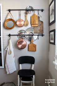 Kitchen Storage For Pots And Pans Pots And Pans Rack Ceiling Hanging Kitchen Country Rustic Cow Pot
