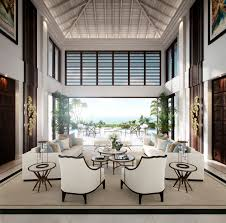 The external views similarly show off the expansive terrace and make the  most of the villa's stunning position on the edge of the beach, with  atmospheric ...
