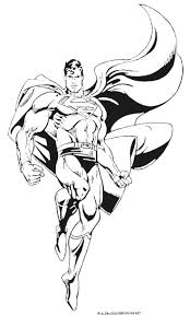 Superman Color Page Coloring Pages For