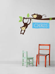 Small Picture personalised monkey branch wall stickers by parkins interiors