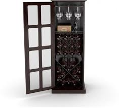 details about wine cabinet 24 bottle glass storage rack wood shelf home bar liquor kitchen new
