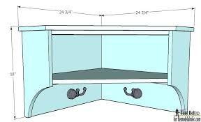 easily build extra storage for your tight spaces with these free diy corner shelf plans on