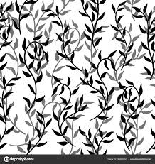 Creeper Design Patterns Liana Spreads Leaves Creeper Seamless Pattern Background