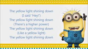 Yellow Light Shining Down Despicable Me 3 Soundtrack Lyrics Yellow Light Pharrell Williams