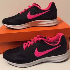 Nike Running Shoes Womens Size 9 Black Hot Pink Nwt