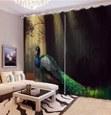 Peacock Living Room Popular Peacock Living Room Curtains Buy Cheap Peacock Living Room