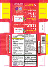 Jr Strength Acetaminophen Dosage Chart Junior Pain And Fever Fast Dissolving Tablet Chewable