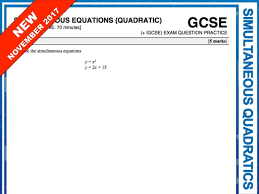 gcse 9 1 exam question practice simultaneous equations with quadratics by maths4everyone teaching resources tes