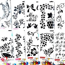 Stencil Art Designs For Walls 8x12 Inches Wall Stencils For Painting Designs