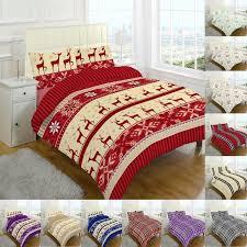 flannelette duvet cover set double king size super bedding single