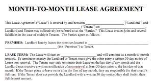 Month To Month Rental Agreement Template Basic Rental Agreement In A Word Document For Free