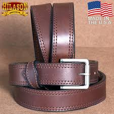 hilason heavy duty made in the usa holster leather work belt dark brown zoom