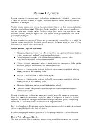Resumes With Objectives Position Objective Magdalene Project Org