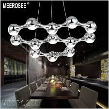 meerosee hot led chandelier light black silver modern led chandelier suspension hanging lighting 100 guarantee md8602 l13 led lighting led pendant