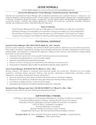 Construction Assistant Project Manager Resume Construction Manager Resume Template Ect Management