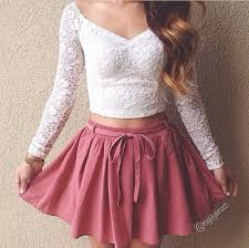 Cute outfits tumblr crop top Striped Cotton Dress Crop Tops Skirt Shirt Lace Cute Tshirt Sweet White Tshirt Pink Ebay Dress Crop Tops Skirt Shirt Lace Cute Tshirt Sweet White