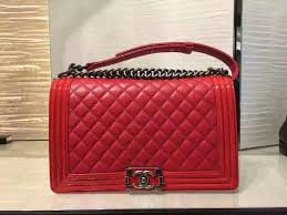 Chanel Red Boy | Chanel's Accessories | Pinterest | Chanel boy bag ... & Chanel brings back their classic quilted Boy Bag with a new update. This  latest Boy Bag from the Pre-Fall 2015 Collection is made of goatskin with  patent l Adamdwight.com