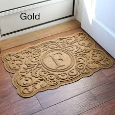 monogram area rug mckinley waterguard doormat yellow turquoise and brown cool rugs safavieh colorful square taupe