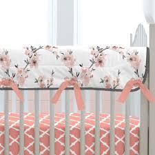 Carousel Designs Crib Rail Cover Light Coral Cherry Blossom Crib Rail Cover Crib Rail Cover