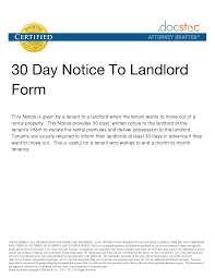 30 day notice to landlord move out letter cq4tahqq thirty day notice letter